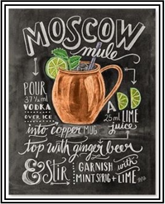 graphic relating to Moscow Mule Recipe Printable named Cost-free Printable Moscow Mule Recipe Card