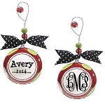 Christmas Whimsey Perfect Polka Dot Ornament