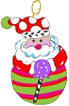 Christmas Ornament Santa stripe