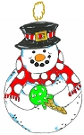Christmas Ornament snowman lollipop
