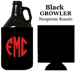 Growler Black Neoprene Koozie