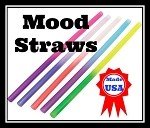 Mood Straws Asst'd Colors  (10 pc @ 5 Colors/2 ea)