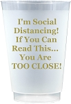 Social Distancing Cups-GOLD      (Set x 10)