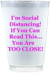 Social Distancing Cups-Hot Pink (Set x 10)