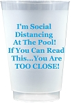 Social Distancing Cups- AT THE POOL     (Set x 10)