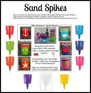 Sand Spike Assorted (set 18) 2 ea/9 colors