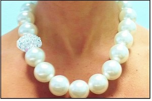 Large Pearl DISCO  BAM BAM Necklace
