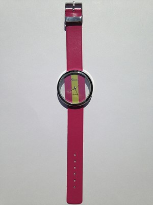 Hot Pink Striped Watch