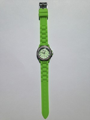 Lime Green Chevron Watch