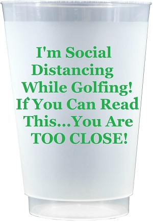 Social Distancing Cups- while GOLFING (Set x 10)