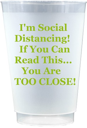Social Distancing Cups-LIME GREEN (Set x 10)
