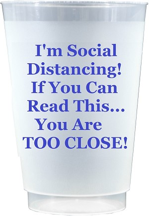 Social Distancing Cups-ROYAL BLUE     (Set x 10)