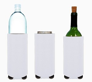 Tall Can/Bottle Koozie White