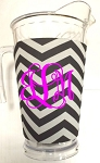Acrylic Pitcher with SLEEVE Chevron Black