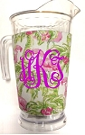 Acrylic Pitcher with SLEEVE Flamingo