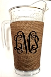 Acrylic Pitcher with SLEEVE Faux Jute Natural