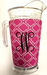 Acrylic Pitcher with SLEEVE Moroccan Pink